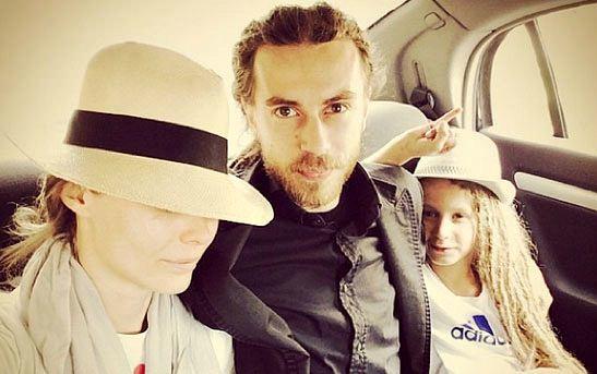 Julia con suo marito e suo figlio