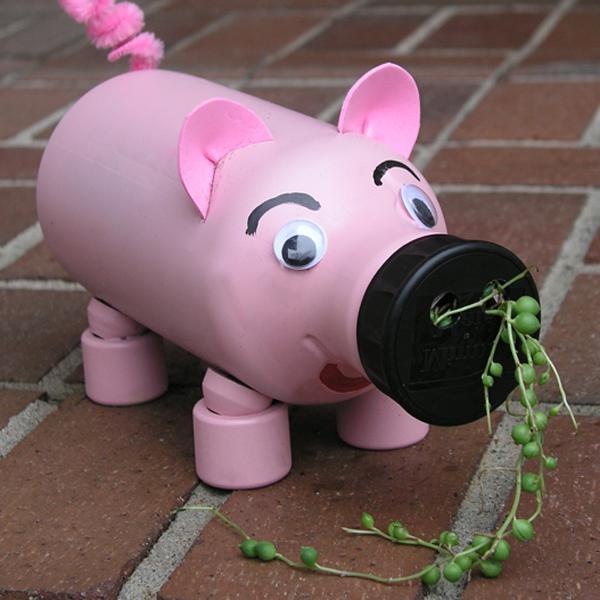 украса за градината го направете сами от пластмасови бутилки