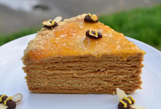torta con panna acida e latte condensato
