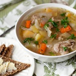 zuppa di agnello con patate