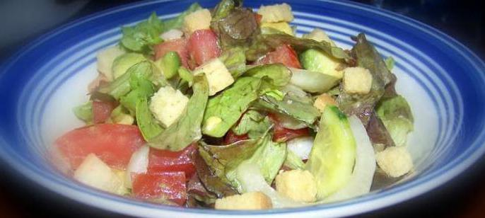 Okusen recept za zeleno solato