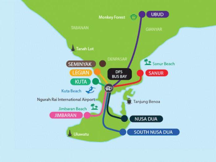 Distanza dall'aeroporto di Denpaar a Ubuda
