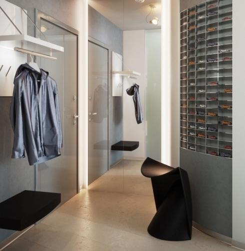 projekt wnętrza korytarza