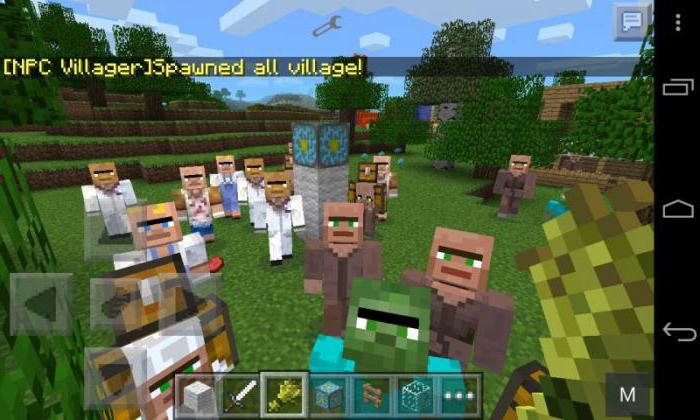 kode na Minecraft na vasi na Android