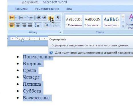 jak sortować listę alfabetycznie