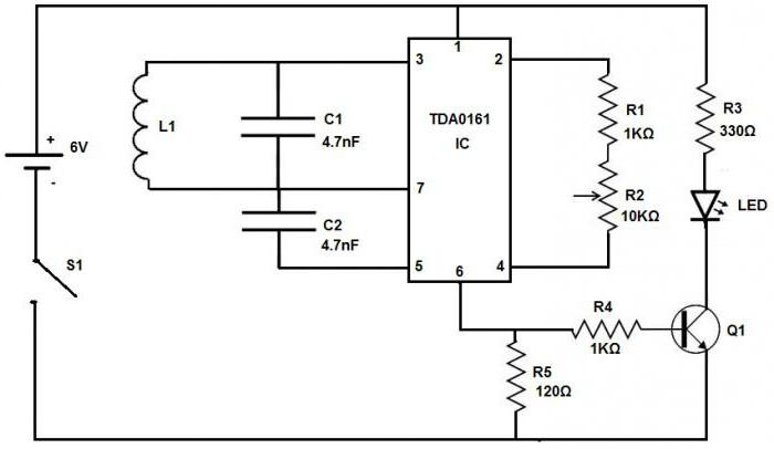 circuito rivelatore da incasso