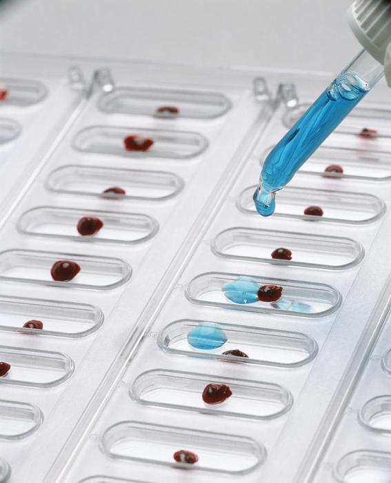 določitev krvne skupine s tabelo ciklonov
