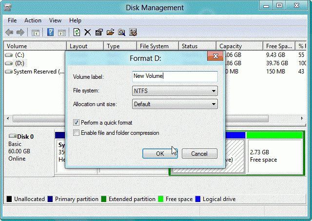 formatiranje tvrdog diska