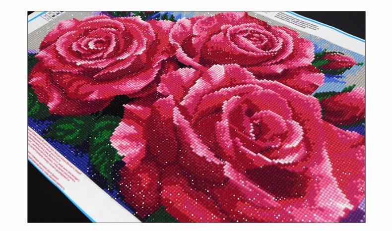 růže rhinestones
