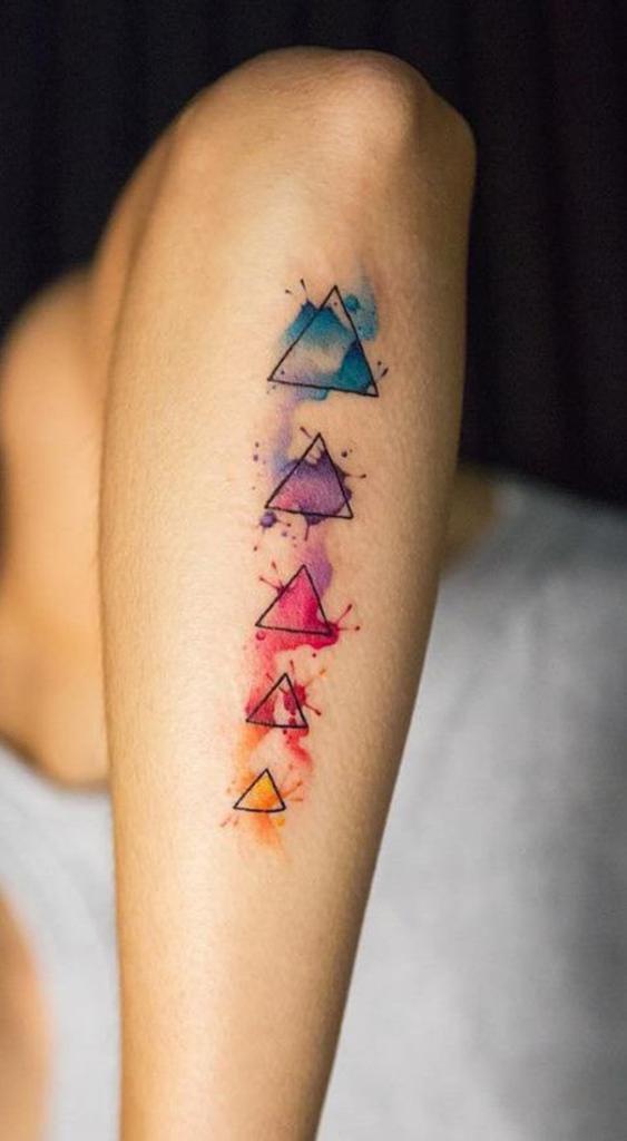 Triangoli sul braccio