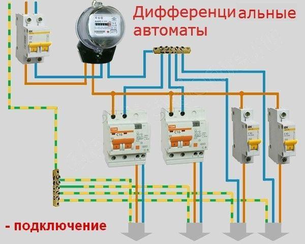 Automatico Differenziale  Schema Elettrico