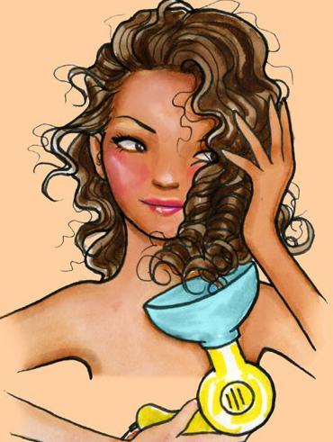 Jak stylizować włosy za pomocą dyfuzora