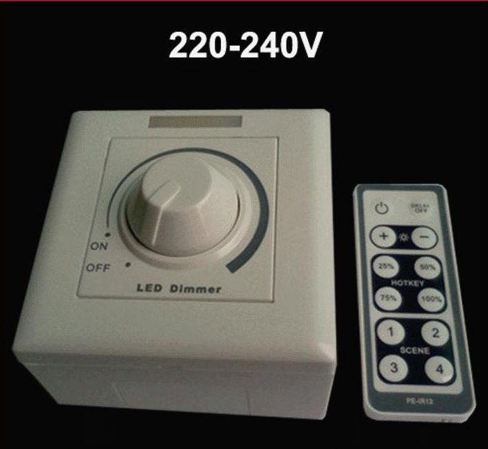 dimmer per lampade a led 220v