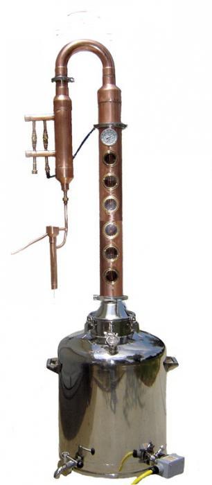 destilacijski stolpec naredite sami