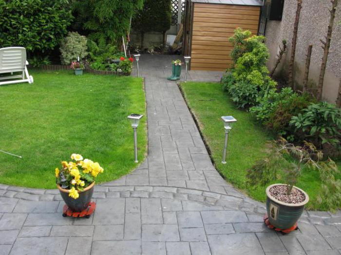 бетон за градински пътеки