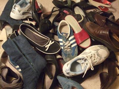 рафт за обувки със собствените си ръце