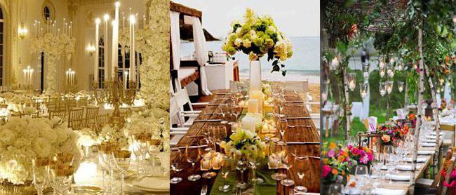svatební květina na stole novomanželé to dělají sami