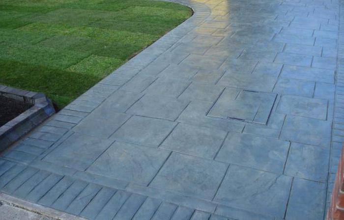 декоративни штампани бетон