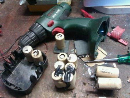 Oprava baterií šroubováků