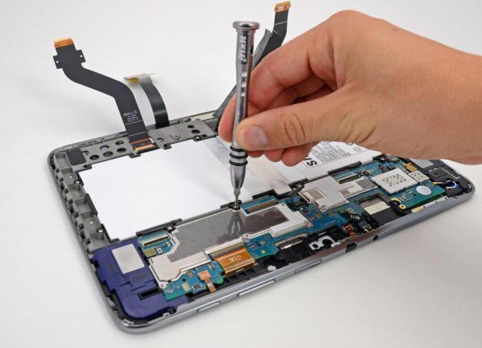 Samsung tablično popravilo naredite sami