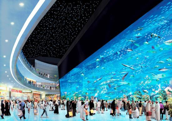 аквариум в търговския център