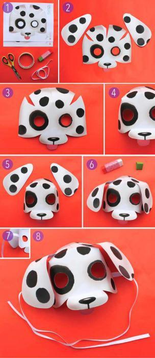 maschera cane di carta