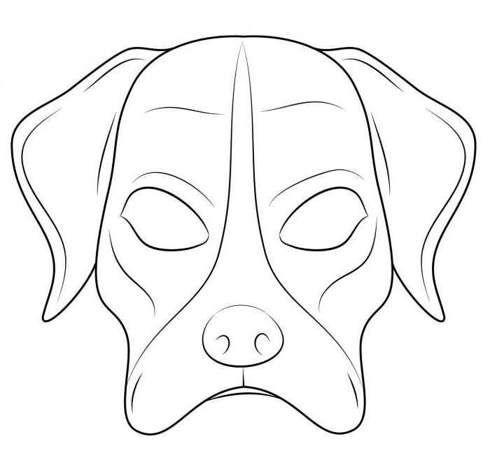 maschera per cani fai da te