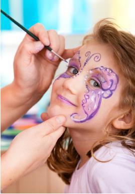 che può disegnare immagini sul viso