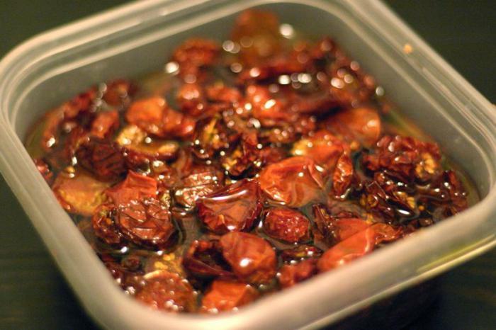 pomodori secchi nella ricetta del burro