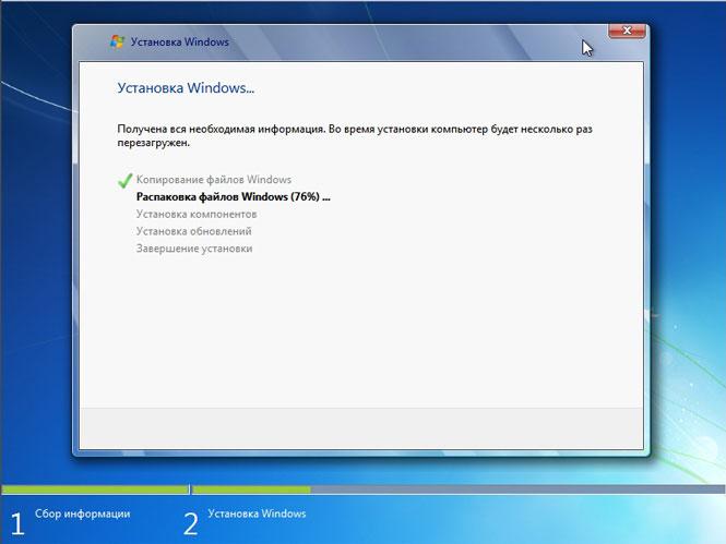 Installazione di file di Windows e driver di dispositivo
