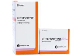 navodila za uporabo suspenzije enterofurila