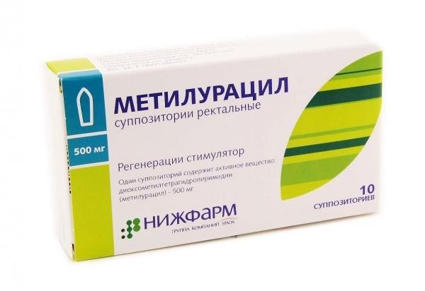 methyluracilové svíčky