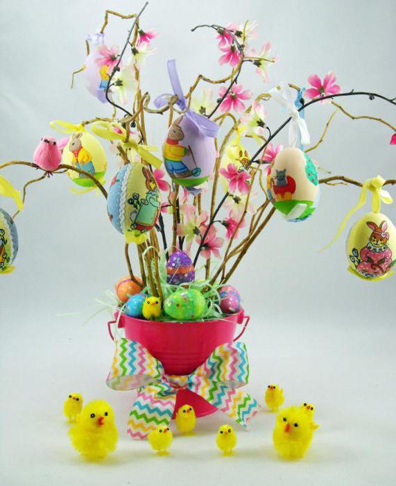 Decorazione di Pasqua con rami