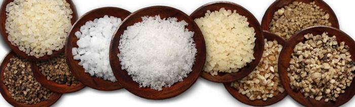 composizione di sale marino commestibile