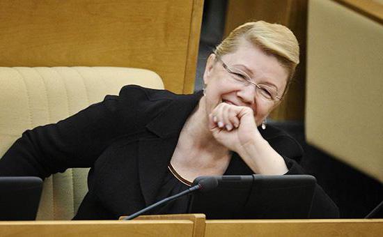 Zamjenica državne dume Elena Mizulina