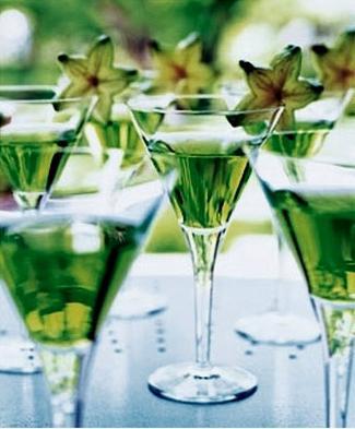 Smaragdová svatební dekorace