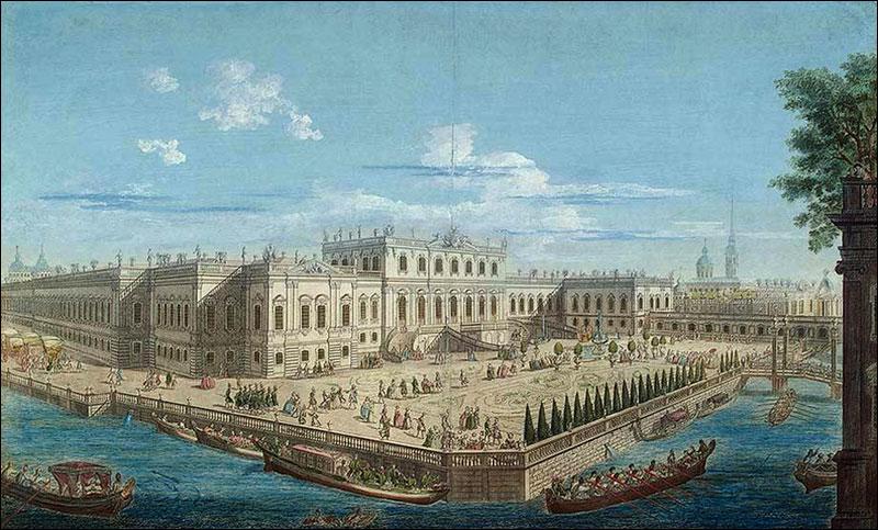 ljetna palača na mjestu budućeg dvorca