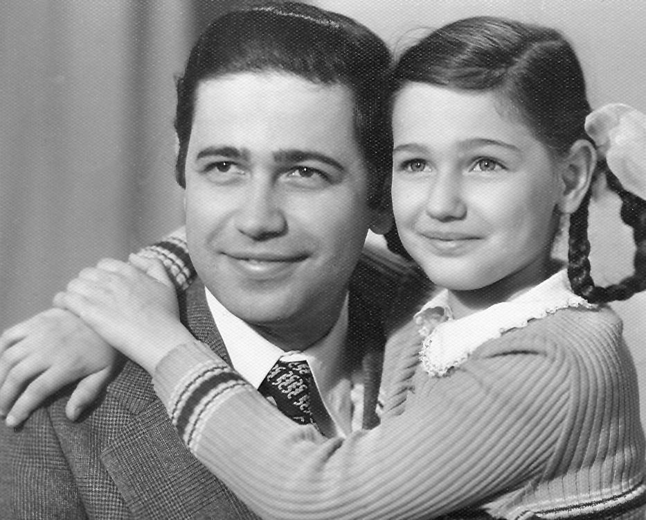 Jevgenij Petrosjan s hčerko