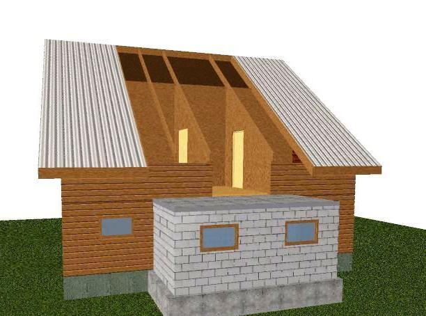 разширение на къщата от блокове от пяна