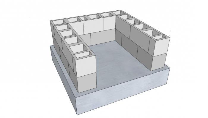 за изграждане на пристройка към къщата от блокове от пяна