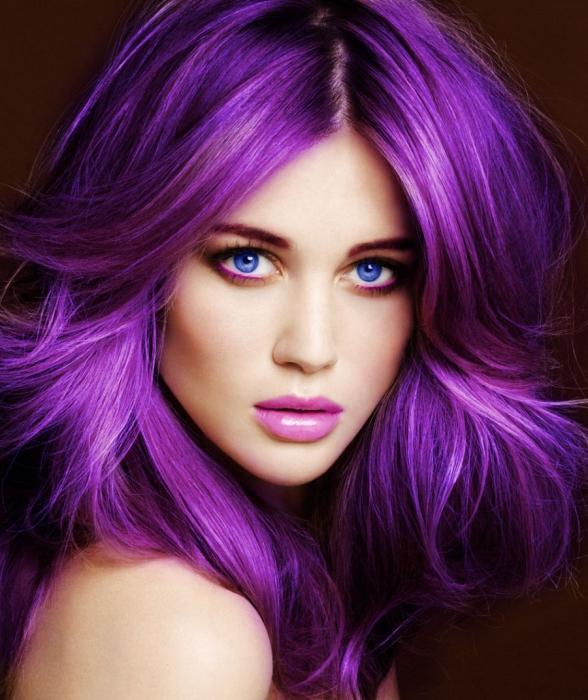 ljubičasta boja kose