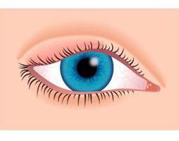 oteklé oči
