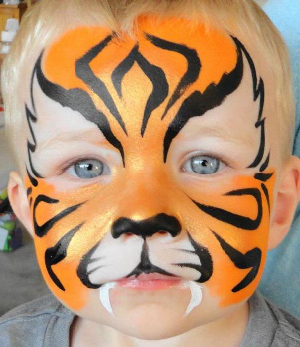 лицето живопис тигър
