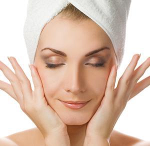 Akupresura masáž obličeje
