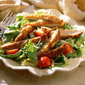 пушена салата от пилешки гърди