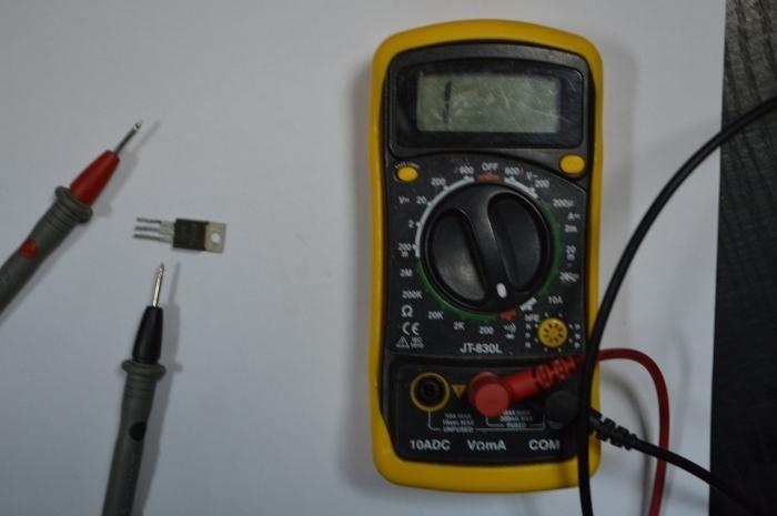 провјера транзистора ефекта поља