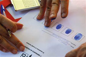 проверка на пръстови отпечатъци