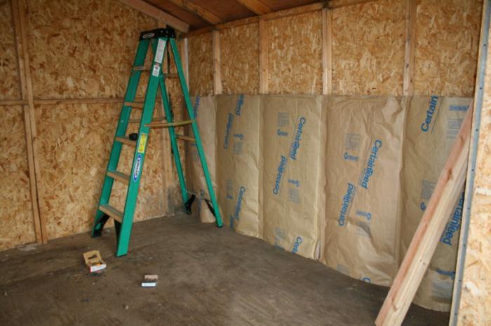 okrasitev lesene hiše znotraj mavčnih plošč