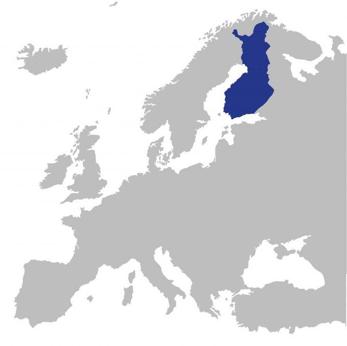 posizione geografica della Finlandia