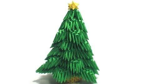 albero di origami modulare